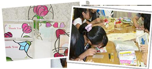 体験コースと受験者と作品と体験風景